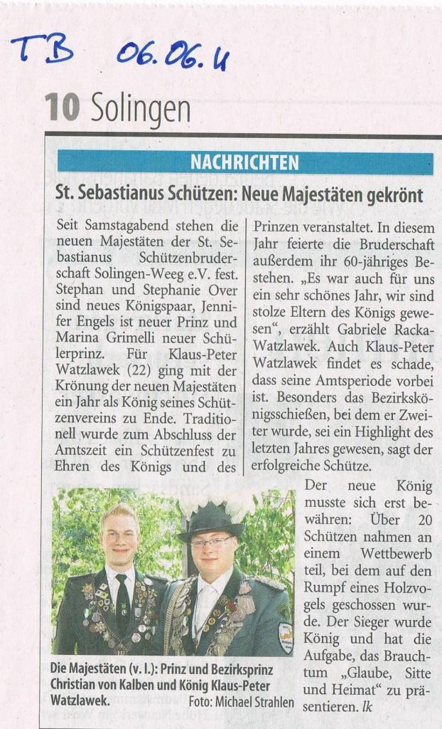 Solinger Tageblatt vom 06.06.2011