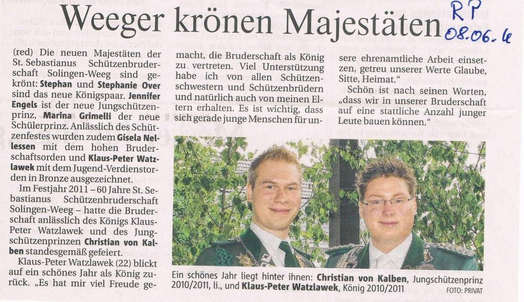 Solinger Morgenpost vom 08.06.2011
